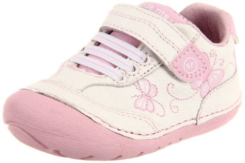 Stride Rite Soft Motion Bambi Sneaker (Infant/Toddler),White/Pink,5 M US Toddler