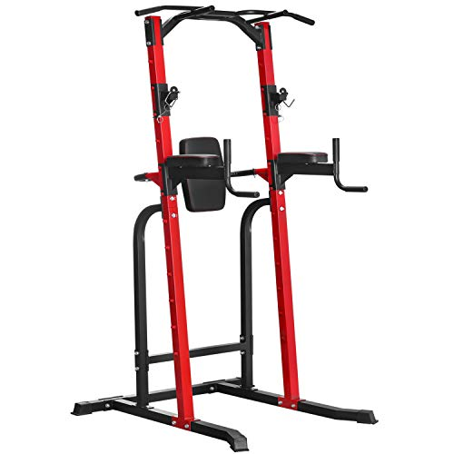 HI-MAT Adjustable Power Tower Pull Up Bar Workout Dip Station...