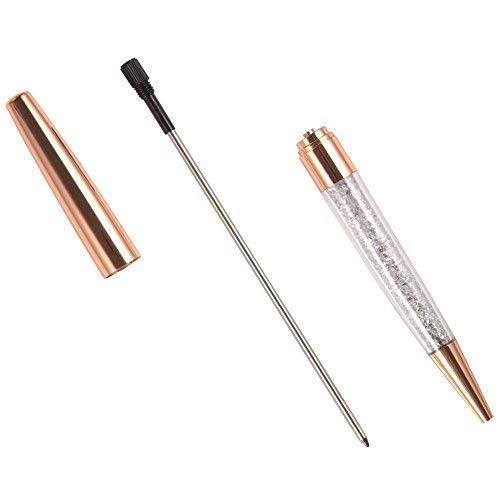 Ubabe Rose Gold Pen Bling Diamond Pens Fine Black Ink Pen-6 Pack and 6 Extra Refills (Rose Gold Metal Pen 6 Pack) Photo #4