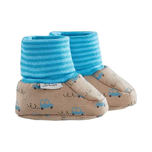 Jacob`s Chaussures bébé à enfiler chaussures bébé, Voitures taupe/bleu