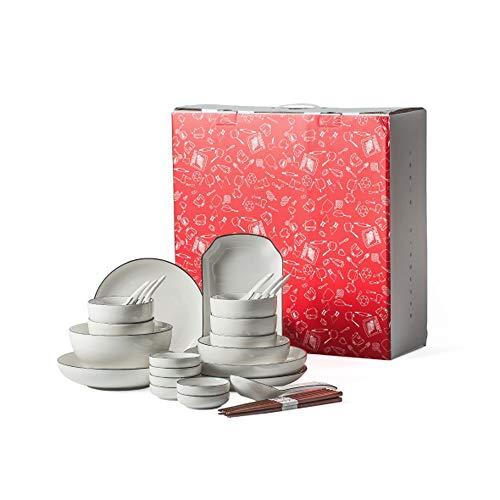 RKY Bol- Set de vaisselle chinoise set de vaisselle simple combinaison multi-personne famille vaisselle vaisselle -5 combinaisons /-/ (taille : 32 pieces)