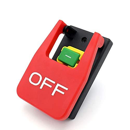 RETTI Aus-Ein Rote Abdeckung Not Halt Druck Knopf Schalter 16A Strom Aus/Unterspannungs Schutz Elektromagnetischer Start Schalter
