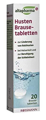 HUSTEN BRAUSETABLETTE Altapharma - Zur Linderung von Reizhusten - 20 Brausetabletten