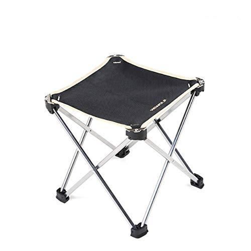 HMJZ Kleine klapstoel, draagbare lichtgewicht waterdichte outdoor vouwstoel camping vissen reizen wandelen picknick strand snel opvouwbare stoel kruk, 24 * 24 * 25 cm