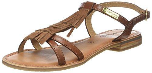 Les Tropéziennes par M. Belarbi Belie C12687 Slingback sandalen voor dames, Bruin Tan, 38 EU