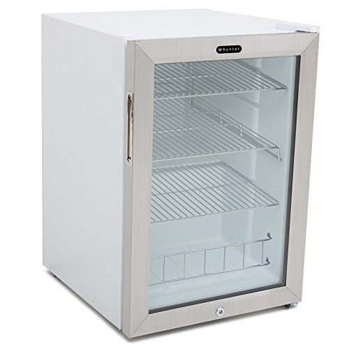 Whynter BR-091WS Beverage Refrigerator with Lock 90 Can Capacity Stainless Steel ,-WH#G4832 TYG43498TY4-U50157