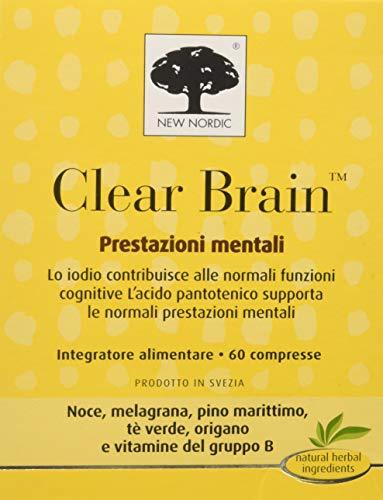 Clear Brain Integratore Alimentare per Prestazioni Mentali - 60 Compresse