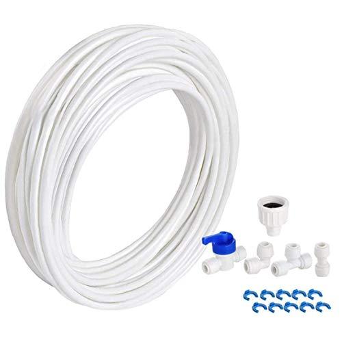 Kacniohen Conectores de Tubos de Agua y purificador de Agua Junta de tubería de Agua Kit de Filtro para la Manguera Nevera Nevera 10M