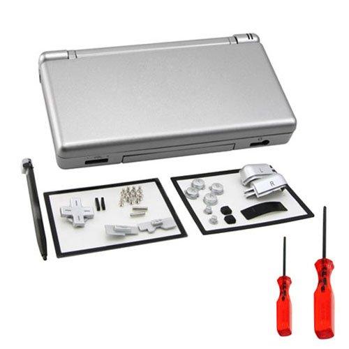 Plata Completa Carcasa Funda Cover + Bontons + Stylus Para Nintendo DS Lite NDSL + útiles