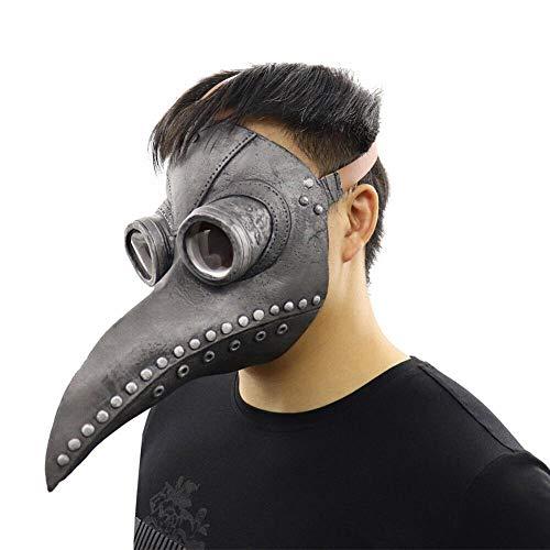 WWWL mscara Halloween peste mdico mscara de ltex nariz larga pico pjaro cuervo Cosplay steampunk Halloween Scary traje 2