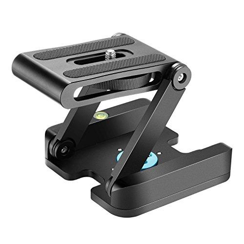 Neewer Z Flex Tilt Kugelkopf mit Quick Shoe QR Halterung für Kamera, Aluminium - Halterung mit Wasserwaage für Canon, Nikon, Sony, Stativ-Schiebeführung.