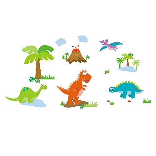 Winhappyhome Mignon Dinosaurs Cartoon Zoo Enfants Stickers Muraux Chambre Fond Salon Nursery Home Decor Amovibles Mural Stickers