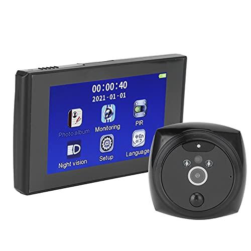 Dioche Videoportero de 4,3 pulgadas HD, Vídeo Timbre Vídeo Timbre Interfono Videoportero con Cámara Electrónica Inteligente con Detección del Movimiento