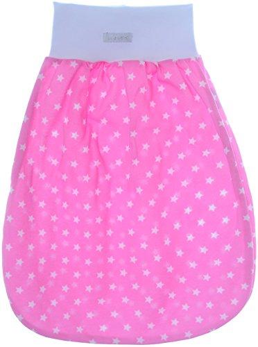 Baby Pucksack Schlafsack Babyschlafsack ohne Ärmel Sommerlich Leicht Einlagig!!! (98/104 85cm, Rosa)