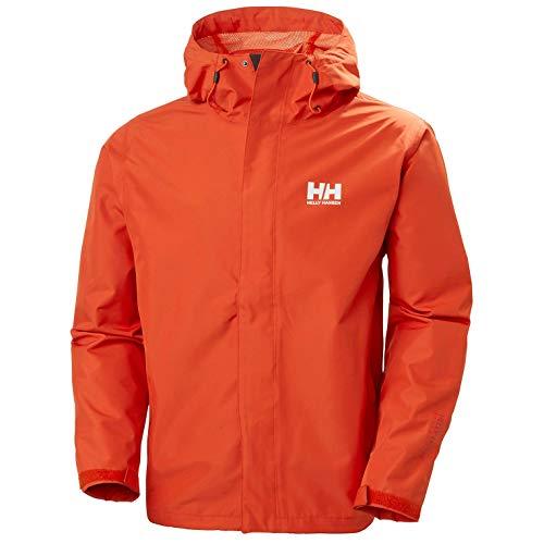 Helly Hansen Men's Seven J Waterproof Windproof Breathable Rain Jacket, 300 Patrol Orange, Large