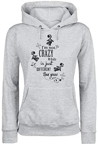 Alice im Wunderland Grinsekatze - I'm Not Crazy Kapuzenpullover grau meliert XS