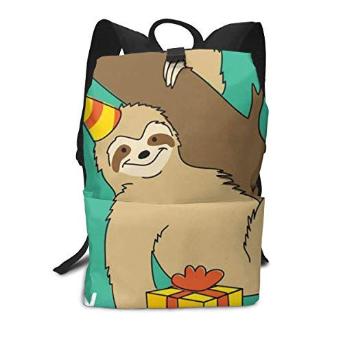 Homebe Scolaire Sac Sac à Dos Cartable for Boys and Girls,Lovely Birthday Sloth Printed Primary Junior High School Bag Bookbag