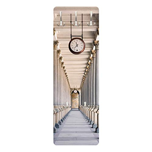 Bilderwelten Garderobe Wandpaneel - Säulen der Mill Kolonnade in Karlovy Vary 139 x 46cm