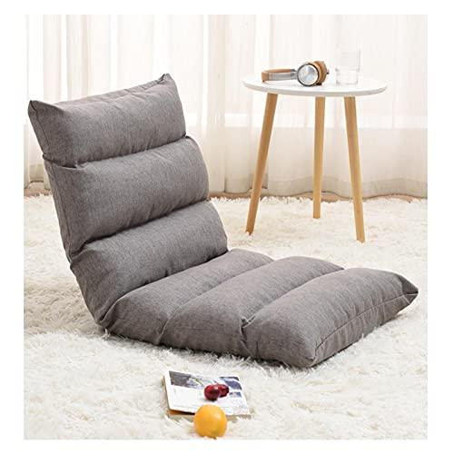 Bodenstuhl Klappbar Bodensessel mit Rückenlehne, 6 Positionen Verstellbare Klappliege Sitzkissen, Sitz, Stuhl, Lazy Lounge Sofa, Meditation Bodenstuhl, Klappbarer BodenstuhlDark Gray