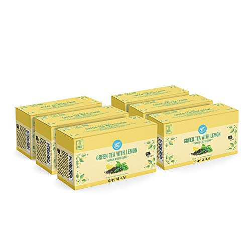 Amazon Brand - Happy Belly Green Tea with Lemon (150 Tea Bags)