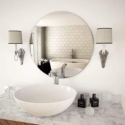 Festnight Wandspiegel Rund Wohnzimmer | Glas Badspiegel | Schlafzimmer Spiegel mit Schrauben | 40/50/60/70 cm