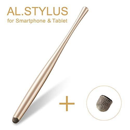 エレコム タッチペン スタイラスペン 【導電繊維タイプ 低重心 「AL.STYLUS」】 (交換ペン先付) ゴールド P-TPATCF01GD