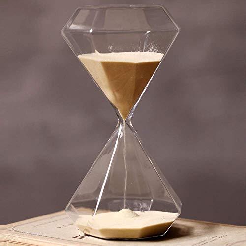 DFBGL Temporizador de Cristal Reloj de Arena Dorado, Regalo Creativo Reloj de Arena de Cristal Reloj de Arena, Temporizador de Arena Dorada Decoración del hogar Reloj de Arena 60min Amar