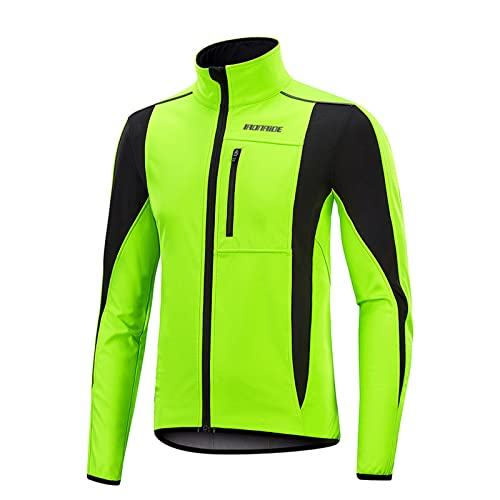 YouLpoet Camisetas Ciclismo Hombre Camisa Manga Larga Transpirable Camisa Camiseta Deportes Ropa Deportes,Verde,XL
