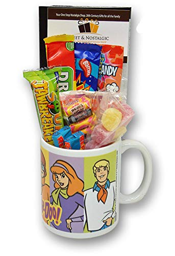 Scooby Doo Cartoon Characters Mug filled with 80's Sweets