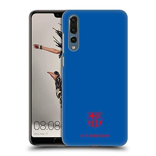 Official FC Barcelona Blue Crest Patterns Hard Back Case Compatible for Huawei P20 Pro