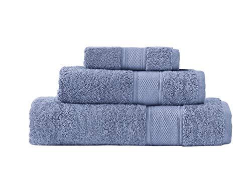 Grund Pinehurst Bath Towels, 3 Piece Set, Sea Blue