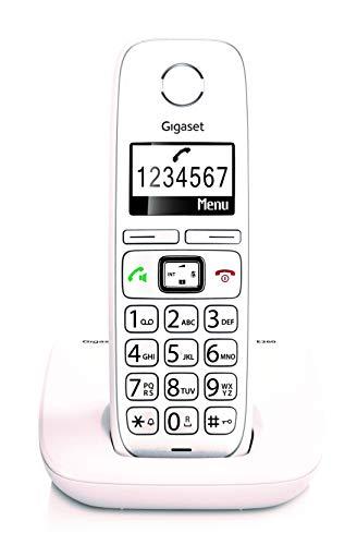 Gigaset E260 - Teléfono inalámbrico teclas grandes, Pantalla 1,8