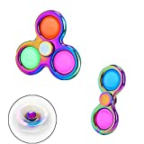 2 pcs Simple Dimple Fidget Spinner Toy,Fidget Spinner Stress Relief Silicone Toy Handheld Mini Push Pop Bubble for Children Adult Stress Relief and Anti-Anxiety