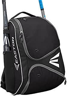 EASTON E210BP Bat & Equipment Backpack Bag | Baseball Softball | 2020 | 2 Bat Sleeves | Smart Gear Storage Shelf | Vented Shoe Pocket | Valuables Pocket | Rubberized Zipper Pulls | Fence Hook
