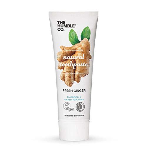 Humble Natural Toothpaste - Pasta de dientes - with fluoride- con flúor - Fresh ginger - Jengibre fresco 3 x 75 ml