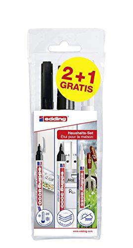 edding 3000/8000/8055 Heroes at Home Set - Haushaltsset - Permanent Marker, Outdoor Marker, Tiefkühl-Marker