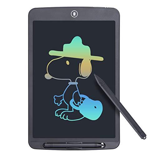 Funkprofi Bunte 12 Zoll LCD Schreibtafel, Digitale Grafiktabletts Schreibplatte Papierlos Elektronisches Writing Tablet mit Anti-Clearance Funktion + Schutztasche Geschenk für Kinder (Farbschrift)