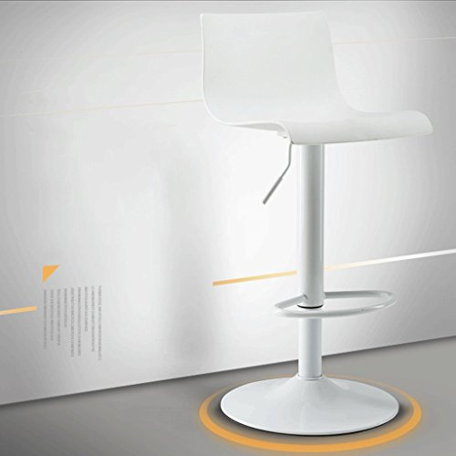 JT- Silla de comedor giratoria con respaldo con pedal y asiento informal, duradera y estable (color: blanco, tamaño: A60-80 cm)