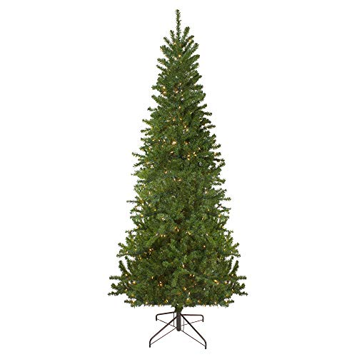 9' Pre-Lit Pencil Canadian Pine Artificial Christmas Tree - Clear Lights