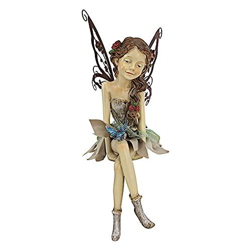 Gartendeko Garten Ornament Sitzen Magische Fee, Sitzende Elfen Gartenfiguren, Wasserdicht Harz Handwerk Landschaftsbau Hof Dekoration Garten Statue Elf Statue Figur Fee Fairy