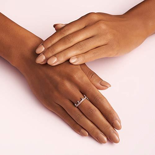 Pandora Jewelry Pink Sparkling Crown Crystal Ring in Pandora Rose, Size 3