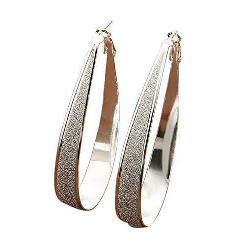 1 paio di orecchini a cerchio pendenti, in argento Sterling 925, 7cm