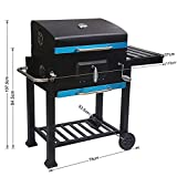 Zoom IMG-2 homecall barbecue con coperchio ruote