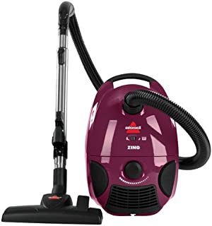 Bissell Zing Bagged Canister Vacuum, Maroon, 4122 – Corded,Maroon Bagged