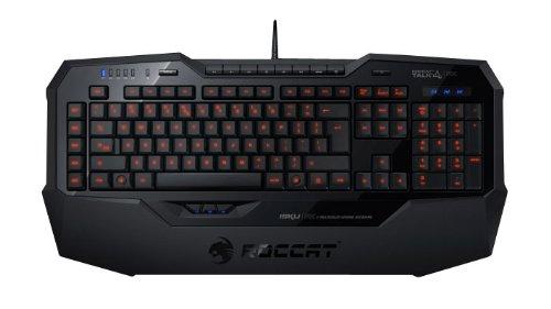 ROCCAT Isku FX Multicolor Gaming Tastatur (DE-Layout, Multicolor Tastenbeleuchtung, 36 Makrotasten inkl. 3 Thumbster-Tasten) schwarz