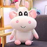 Peluche Super Doux Kawaii Vache en Peluche Dessin animé Animal Vache en Peluche poupée canapé Maison décoration Meilleur Cadeau pour Enfants Fille Amis 30 cm Rose
