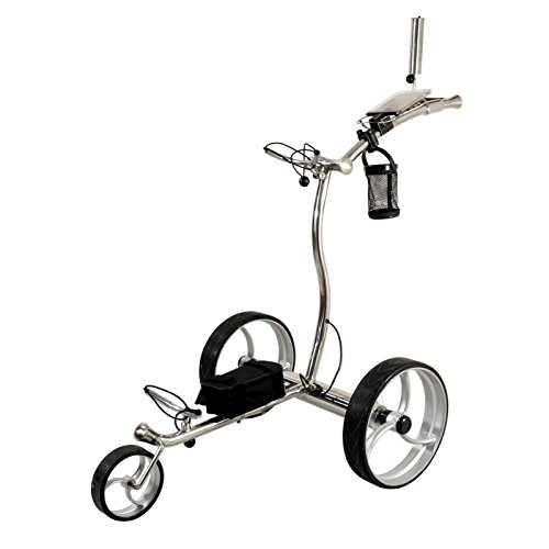 NovaCaddy Luxury Electric Remote Control Golf Trolley Cart, LX1R, 24V, Lithium Battery, Stainless Steel