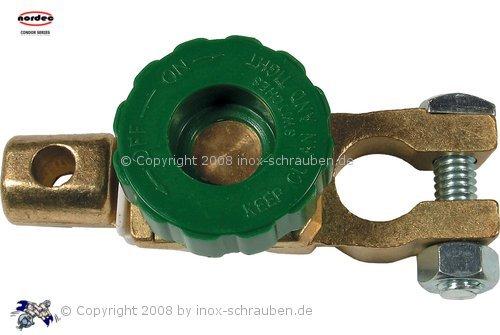 NORDEC Batterie Polklemme m. Unterbrecher (Diebstahlschutz)