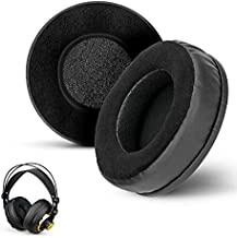 BRAINWAVZ Round Memory Foam Earpads - Suitable Many Large Headphones - SteelSeries, HD668B, ATH, AKG K553, HifiMan, ATH, Philips, Fostex, Sony Ear Pad & More (Hybrid)