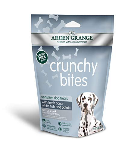Arden Grange Crunchy Bites Sensitive - Grain Free - Ocean White Fish and Potato Set of 10